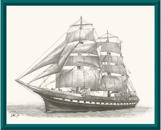 Voilier trois m ts barque dessin artek expo pa coutarel - Dessins de voiliers ...
